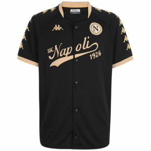t-shirt baseball black gold